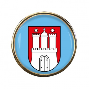 Hamburg (Germany) Round Pin Badge