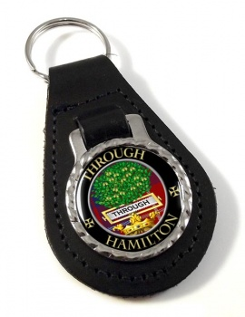 Hamilton Scottish Clan Leather Key Fob