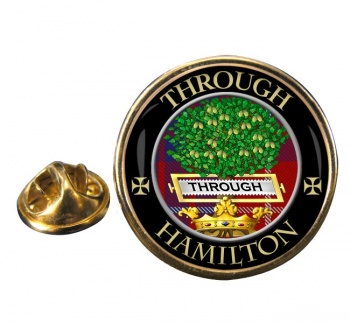 Hamilton Scottish Clan Round Pin Badge