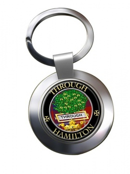 Hamilton Scottish Clan Chrome Key Ring
