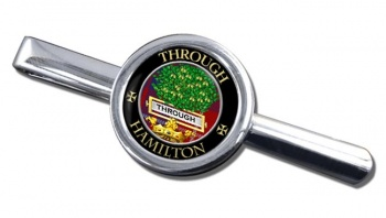 Hamilton Scottish Clan Round Tie Clip