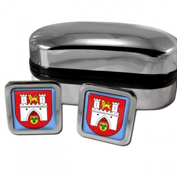 Hannover Germany Square Cufflinks