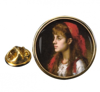 A Russian Beauty by Alexei Harlamoff Pin Badge