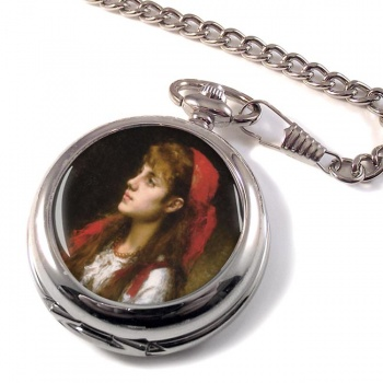A Russian Beauty by Alexei Harlamoff Pocket Watch