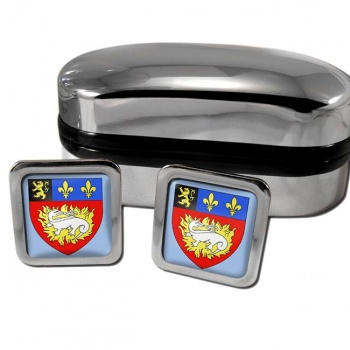 Le Havre France Square Cufflinks