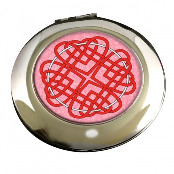 Celtic Heart Cross Round Mirror