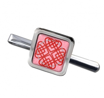 Celtic Heart Cross Square Tie Clip