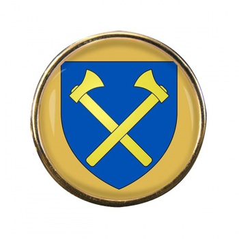 St. Helier (Jersey) Round Pin Badge