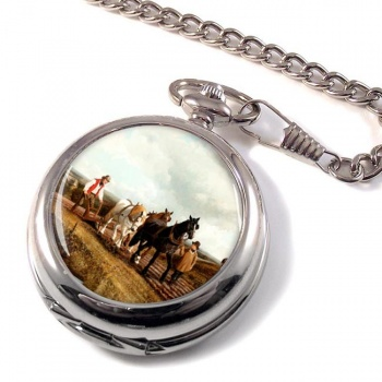 Horse Plough by Herring Pocket Watch