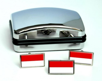 Hessen (Germany) Flag Cufflink and Tie Pin Set
