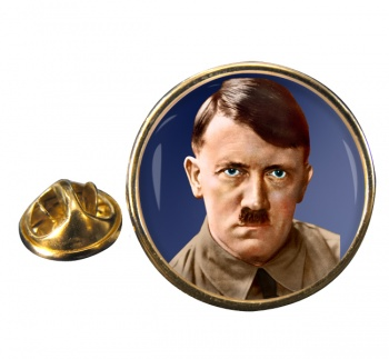 Adolf Hitler Round Pin Badge
