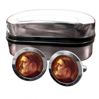 Adolf Hitler Profile Round Cufflinks