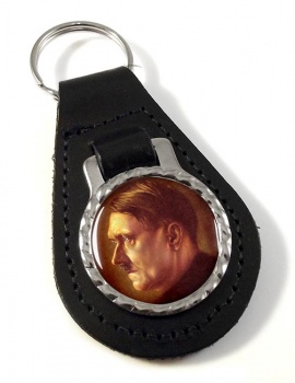 Adolf Hitler Profile Leather Key Fob