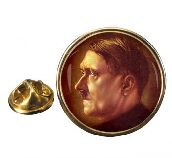 Adolf Hitler Profile Round Pin Badge