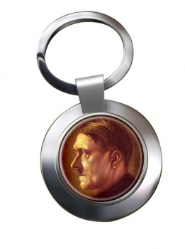 Adolf Hitler Profile Chrome Key Ring