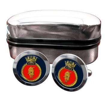 HMS Intrepid Round Cufflinks