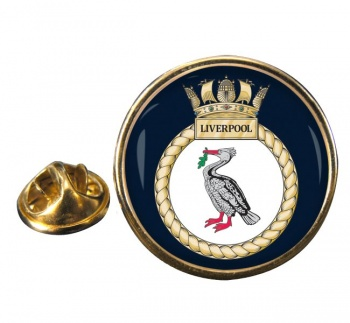 HMS Liverpool Round Pin Badge