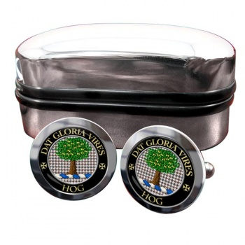 Hog Scottish Clan Round Cufflinks