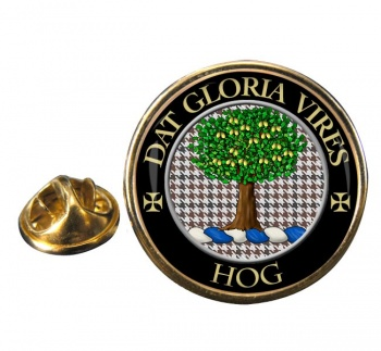 Hog Scottish Clan Round Pin Badge