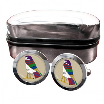 Horus God of the Sky Round Cufflinks