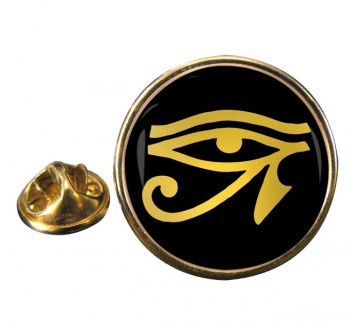Eye of Horus Gold Round Pin Badge