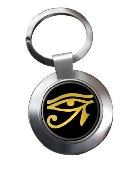 Eye of Horus Gold Chrome Key Ring
