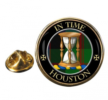 Houston Scottish Clan Round Pin Badge