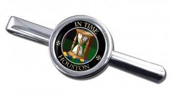 Houston Scottish Clan Round Tie Clip