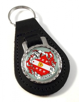 Howard Coat of Arms Leather Key Fob