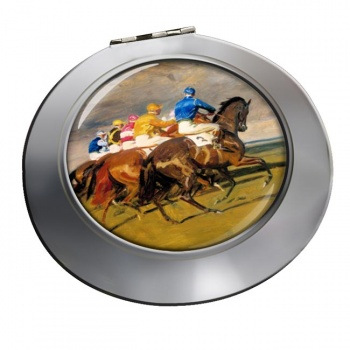 Horse Racing The Start Chrome Mirror