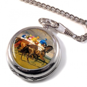Horse Racing The Start Pocket Watch