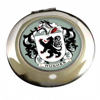 Hughes Coat of Arms Chrome Mirror