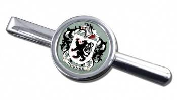 Hughes Coat of Arms Round Tie Clip