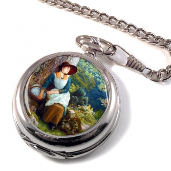 Asleep in the Woods by Arthur Hughes Pocket Watch