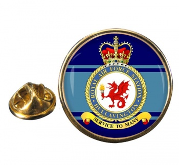Hullavington Round Pin Badge