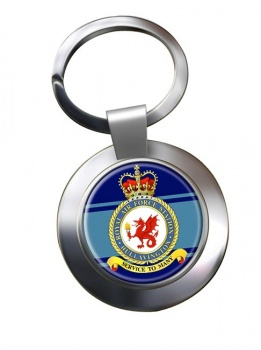 Hullavington Chrome Key Ring