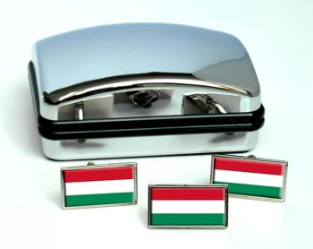 Hungary Flag Cufflink and Tie Pin Set