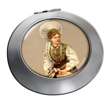 A Hungarian Woman Chrome Mirror