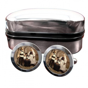 Hungarian National Costume Round Cufflinks