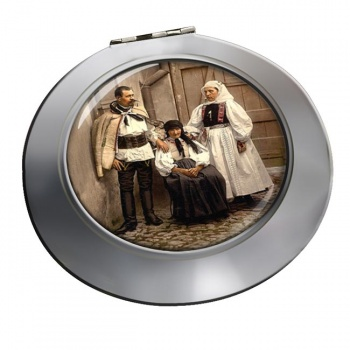 Hungarian National Costume Chrome Mirror