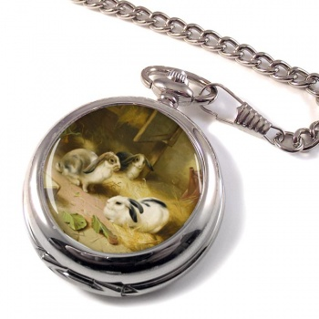 Rabbits by Edgar Hunt Pocket Watch