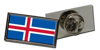 Iceland Island Flag Pin Badge