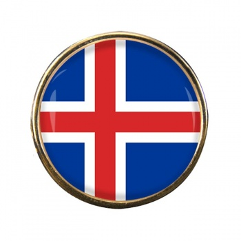 Iceland Island Round Pin Badge