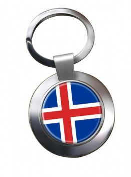 Iceland Island Metal Key Ring