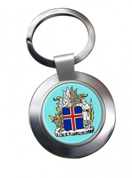 Skjaldarmerki Islands (Iceland) Metal Key Ring