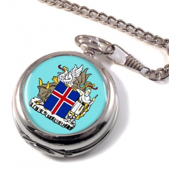 Skjaldarmerki I�slands (Iceland) Pocket Watch