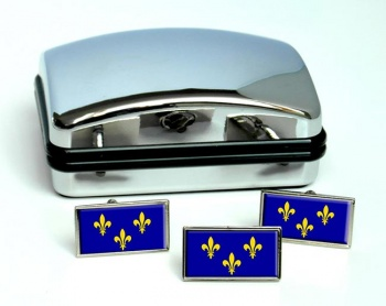 Ile-de-France Flag Cufflink and Tie Pin Set