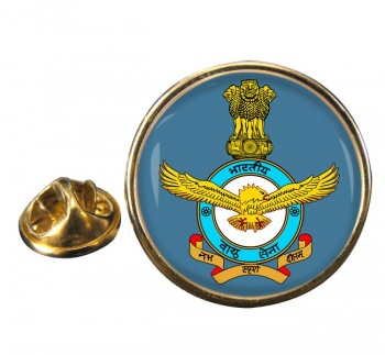 Indian Air Force Round Pin Badge