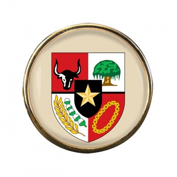 Indonesia Round Pin Badge