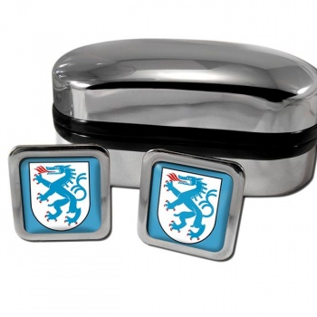 Ingolstadt Germany Square Cufflinks